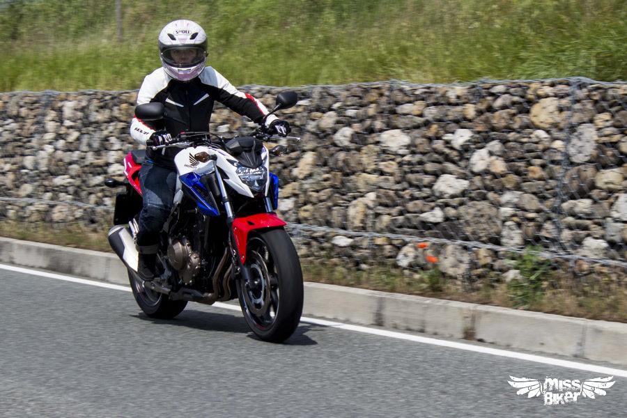 Test MissBiker: Honda CB500f 28