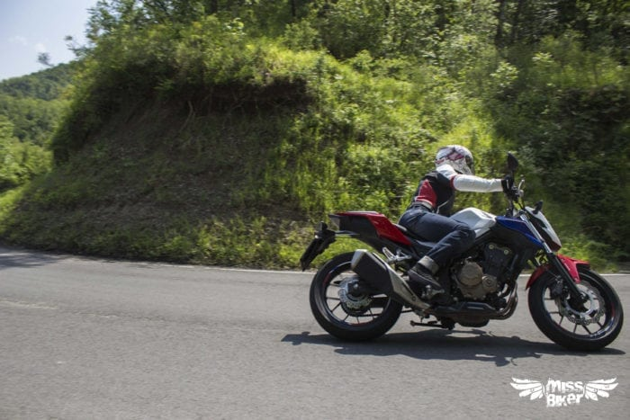 Test MissBiker: Honda CB500f 18