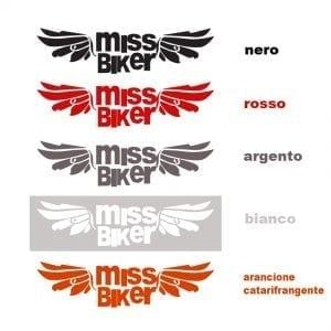 4 Adesivi MissBiker