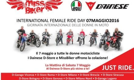 7 maggio 2016: MissBiker e International Female Ride Day