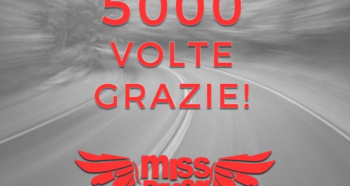 5000 followers sulla nostra pagina ufficiale di Facebook