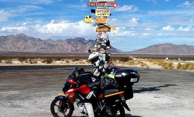 La prima donna musulmana a fare il giro del mondo in moto