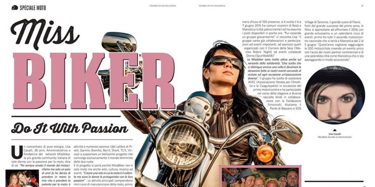 MissBiker sulla rivista: Storie di Eccellenza