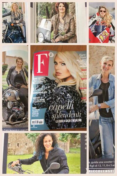 Si parla di donne motocicliste sulla rivista F 1
