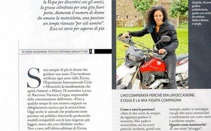 Si parla di donne motocicliste sulla rivista F
