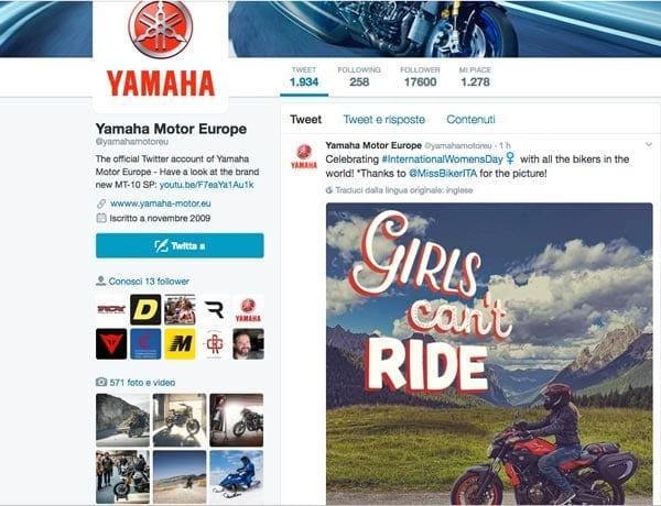 Yamaha Motor celebra l'International Women's Day scegliendo una delle nostre foto!