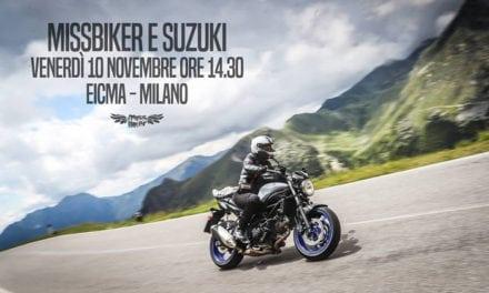 Suzuki & MissBiker insieme all'EICMA 2017