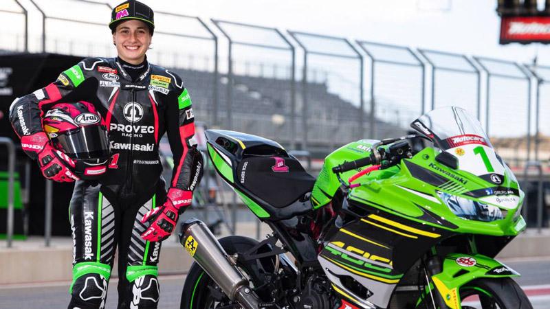 "Ana Carrasco: ""Pilotare una moto non è una cosa maschile nè femminile."""